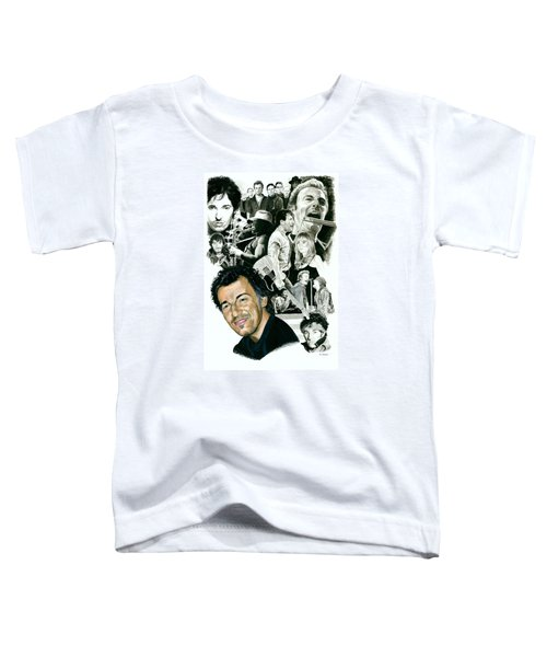 Bruce Springsteen Through The Years Toddler T-Shirt by Ken Branch