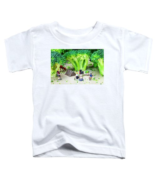 Camping Among Broccoli Jungles Miniature Art Toddler T-Shirt by Paul Ge
