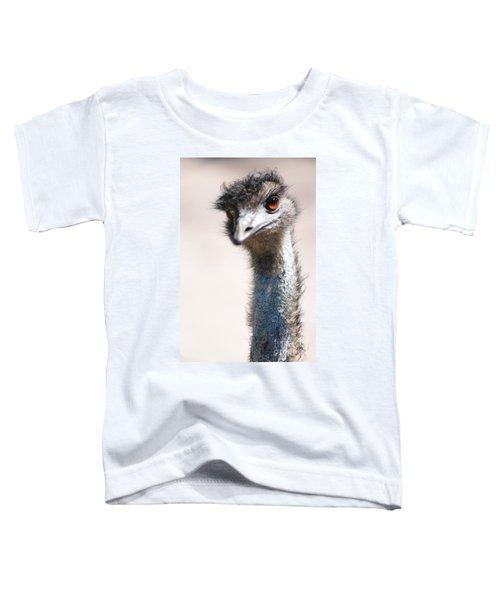 Curious Emu Toddler T-Shirt by Carol Groenen