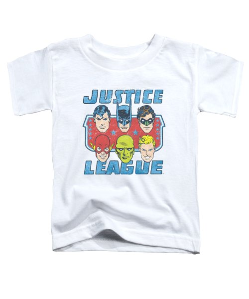 Dc - Faces Of Justice Toddler T-Shirt by Brand A