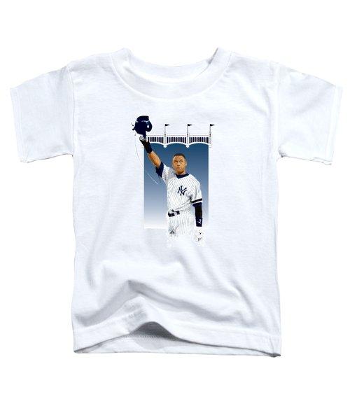 Derek Jeter 3000 Hits Toddler T-Shirt by Scott Weigner