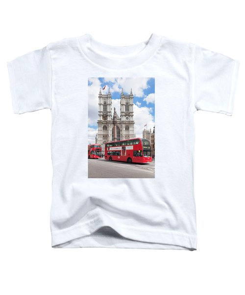 Double-decker Buses Passing Toddler T-Shirt by Panoramic Images