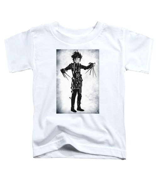 Edward Scissorhands - Johnny Depp Toddler T-Shirt by Ayse Deniz