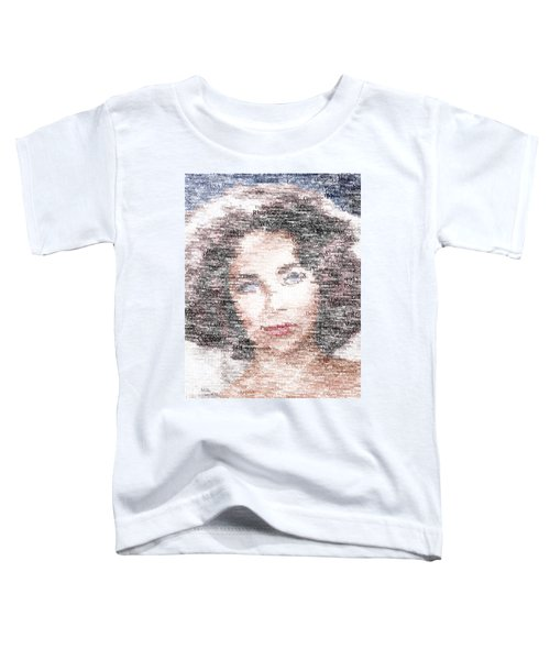 Elizabeth Taylor Typo Toddler T-Shirt by Taylan Apukovska