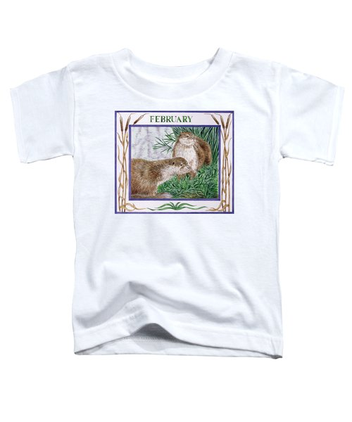 February Wc On Paper Toddler T-Shirt by Catherine Bradbury