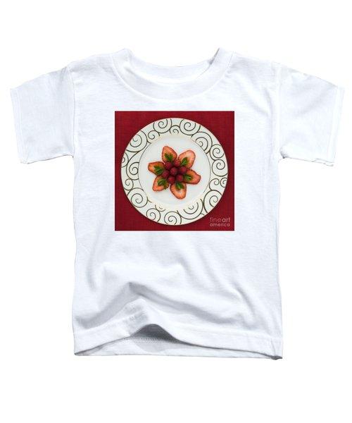Flowering Fruits Toddler T-Shirt by Anne Gilbert