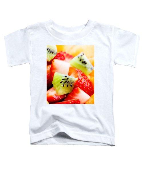 Fruit Salad Macro Toddler T-Shirt by Johan Swanepoel