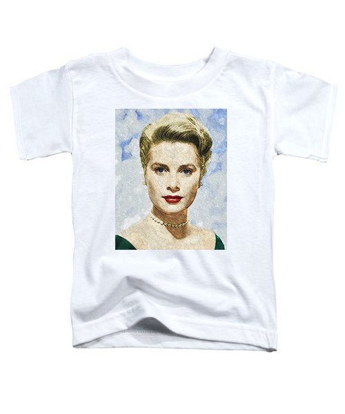 Grace Kelly Toddler T-Shirt by Taylan Soyturk