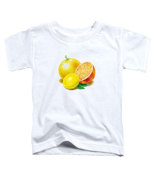 Grapefruit Lemon Orange Toddler T-Shirt by Irina Sztukowski
