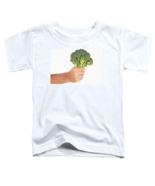 Hand Holding Broccoli Toddler T-Shirt by James BO  Insogna