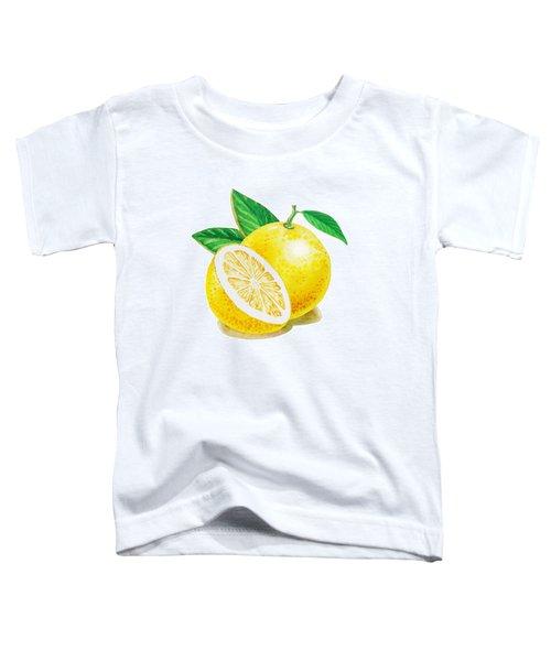 Happy Grapefruit- Irina Sztukowski Toddler T-Shirt by Irina Sztukowski