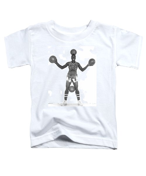 Harlem Globetrotters Player Toddler T-Shirt by Underwood Archives