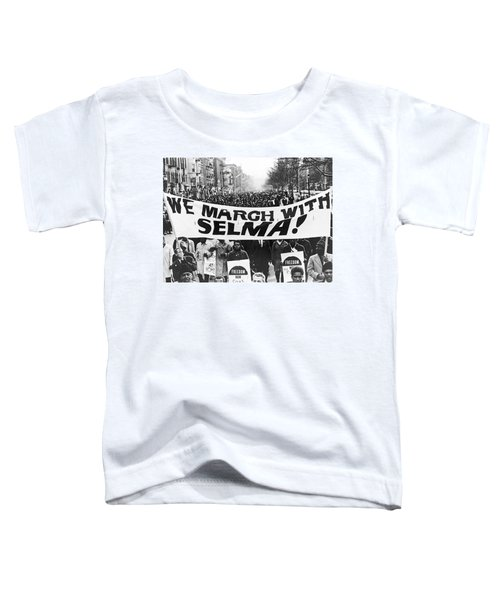 Harlem Supports Selma Toddler T-Shirt by Stanley Wolfson