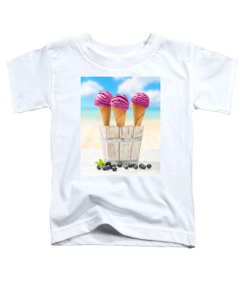 Icecreams With Blueberries Toddler T-Shirt by Amanda Elwell