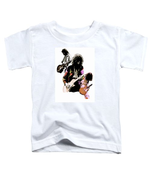 In Flight Iv Jimmy Page  Toddler T-Shirt by Iconic Images Art Gallery David Pucciarelli