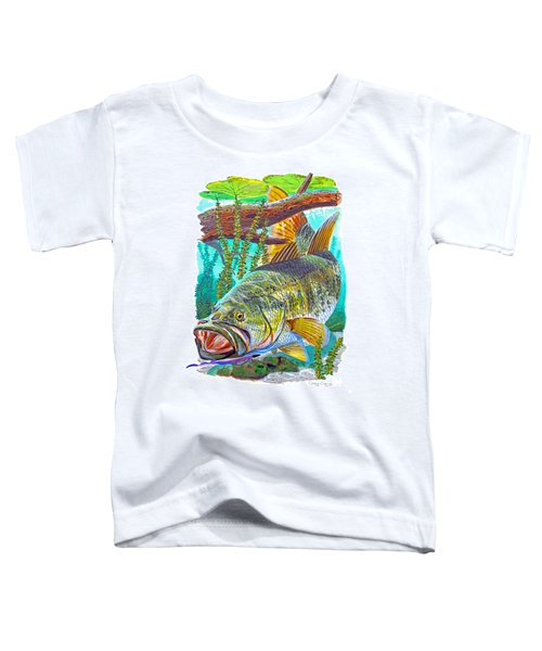 Largemouth Bass Toddler T-Shirt by Carey Chen