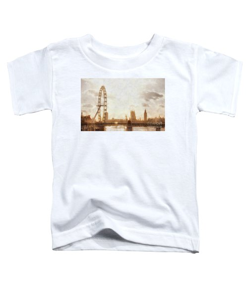 London Skyline At Dusk 01 Toddler T-Shirt by Pixel  Chimp