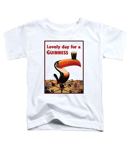 Lovely Day For A Guinness Toddler T-Shirt by Nomad Art