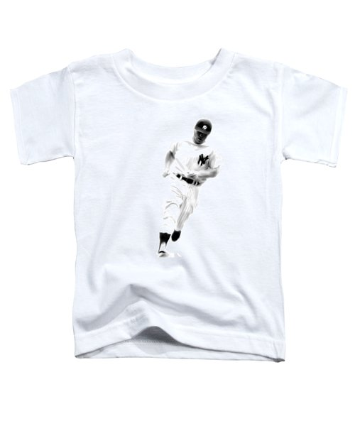 Mantles Gate  Mickey Mantle Toddler T-Shirt by Iconic Images Art Gallery David Pucciarelli