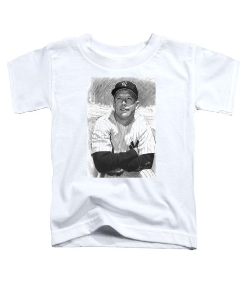 Mickey Mantle Toddler T-Shirt by Viola El