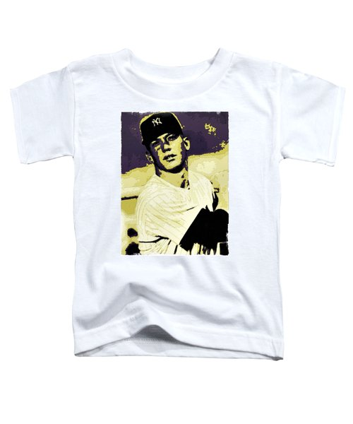 Mickey Mantle Poster Art Toddler T-Shirt by Florian Rodarte