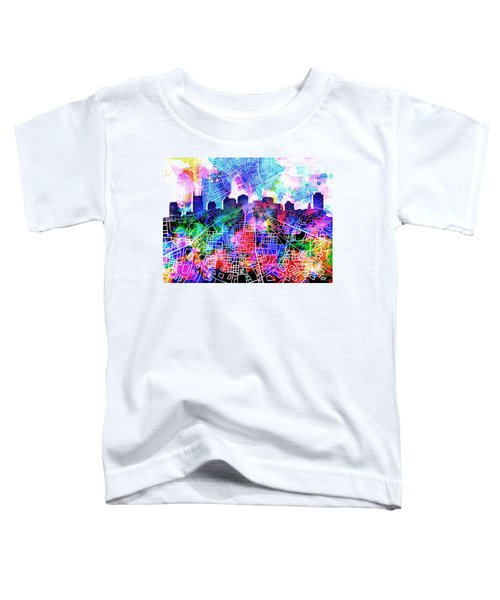 Nashville Skyline Watercolor 5 Toddler T-Shirt by Bekim Art