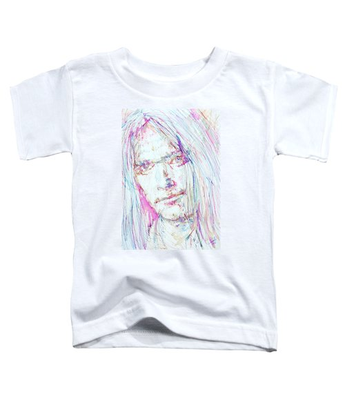 Neil Young - Colored Pens Portrait Toddler T-Shirt by Fabrizio Cassetta