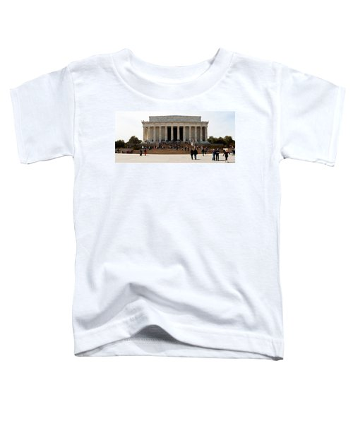 People At Lincoln Memorial, The Mall Toddler T-Shirt by Panoramic Images