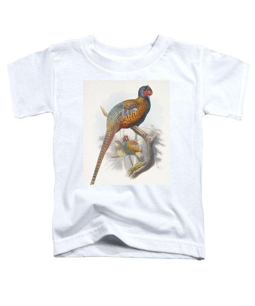 Phasianus Elegans Elegant Pheasant Toddler T-Shirt by Daniel Girard Elliot
