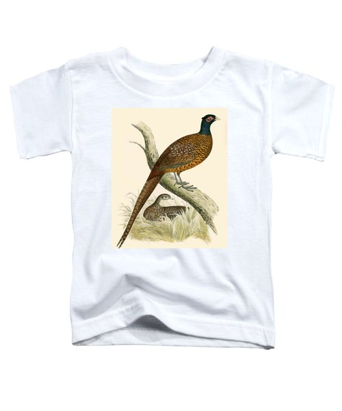 Pheasant Toddler T-Shirt by Beverley R Morris