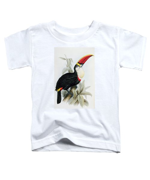 Red-billed Toucan Toddler T-Shirt by Edward Lear