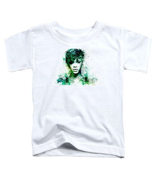 Rihanna 5 Toddler T-Shirt by Bekim Art