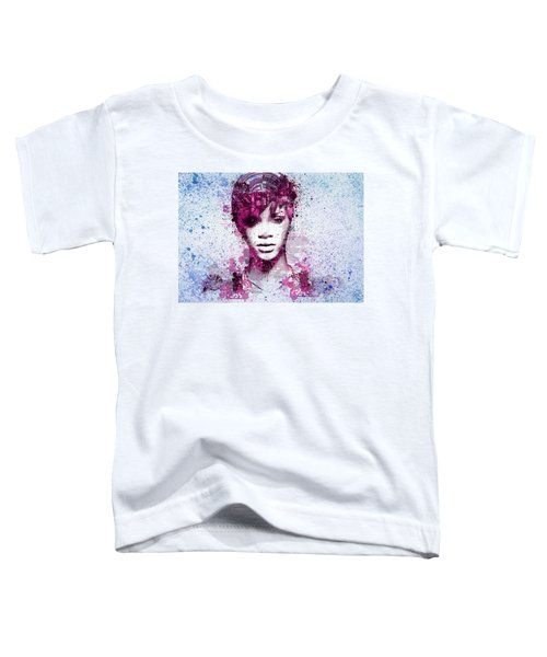Rihanna 8 Toddler T-Shirt by Bekim Art