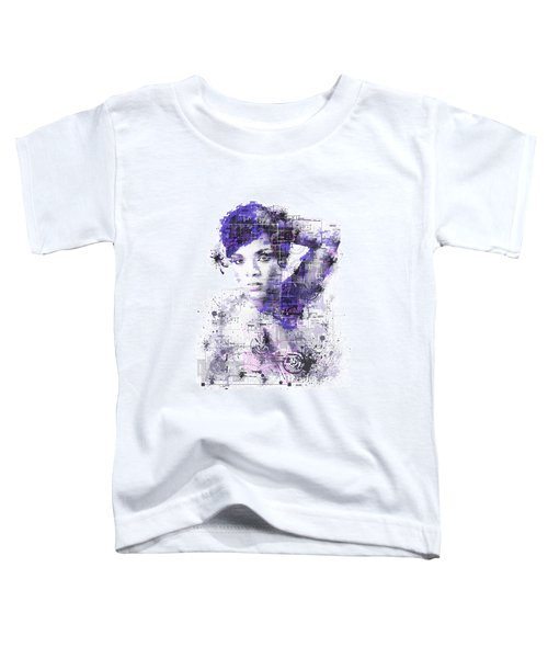 Rihanna Toddler T-Shirt by Bekim Art