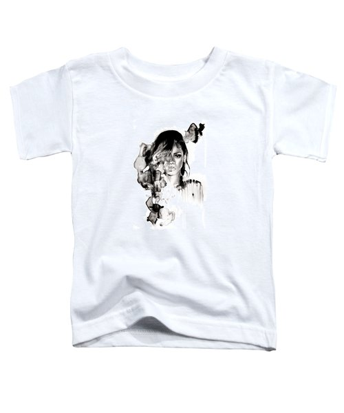 Rihanna Stay Toddler T-Shirt by Molly Picklesimer