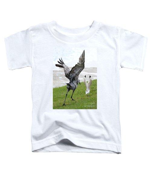 Sandhill Chasing Ibis Toddler T-Shirt by Carol Groenen