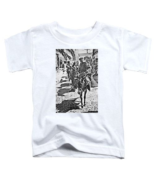 Santorini Donkey Train. Toddler T-Shirt by Meirion Matthias