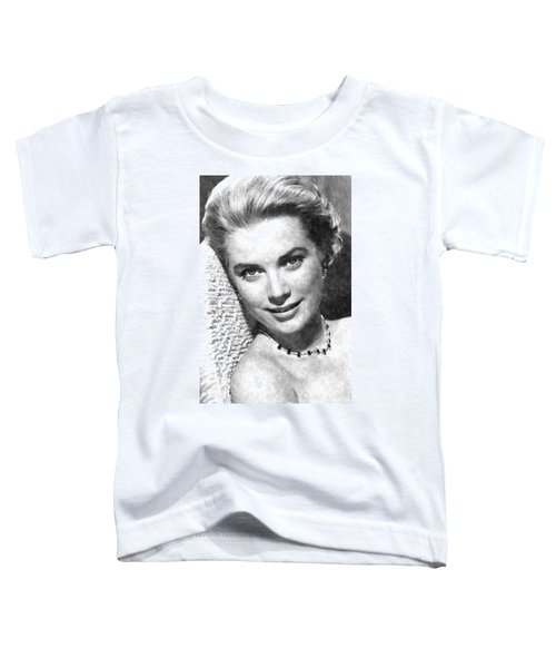 Simply Stunning Grace Kelly Toddler T-Shirt by Florian Rodarte