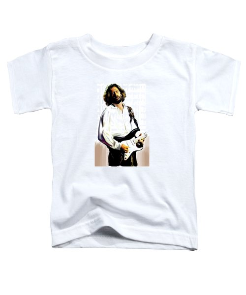 Slow Hand  Eric Clapton Toddler T-Shirt by Iconic Images Art Gallery David Pucciarelli