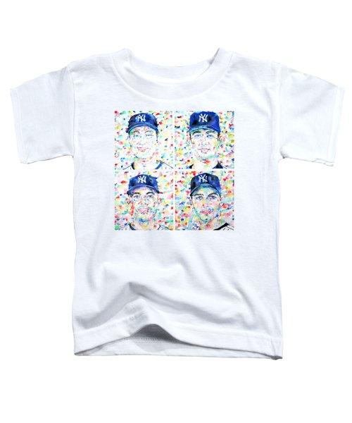 the CORE FOUR - watercolor portrait.1 Toddler T-Shirt by Fabrizio Cassetta