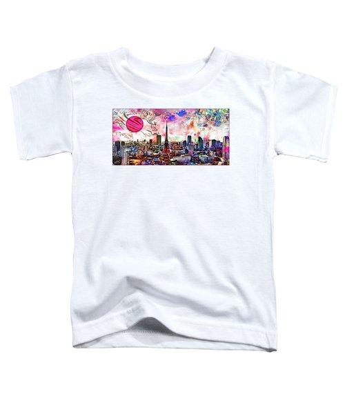 Tokyo Metropolis Toddler T-Shirt by Daniel Janda