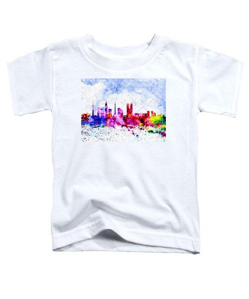 Tokyo Watercolor Toddler T-Shirt by Daniel Janda