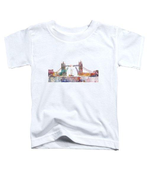Tower Bridge Colorsplash Toddler T-Shirt by Aimee Stewart