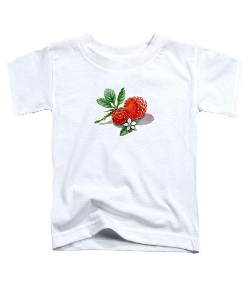 Artz Vitamins A Very Happy Raspberry Toddler T-Shirt by Irina Sztukowski