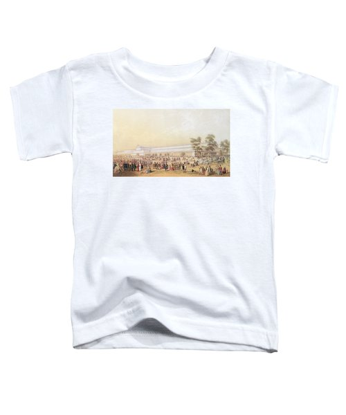 View Of The Crystal Palace Toddler T-Shirt by George Baxter