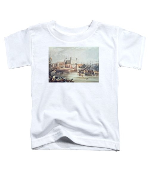 View Of The Tower Of London Toddler T-Shirt by John Gendall