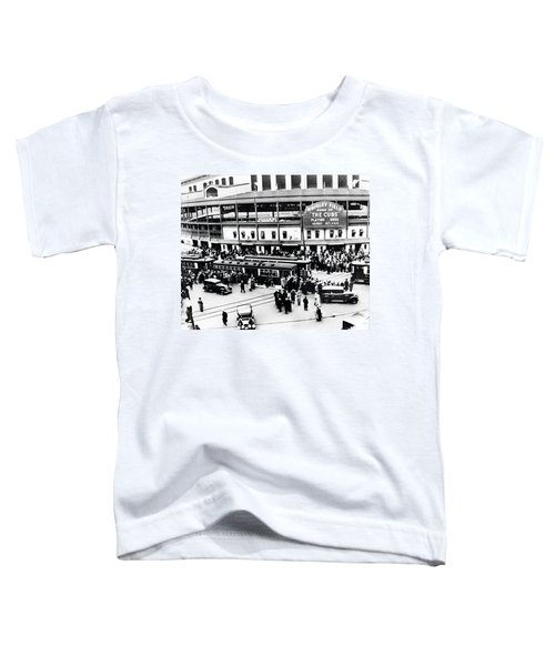 Vintage Wrigley Field Toddler T-Shirt by Bill Cannon
