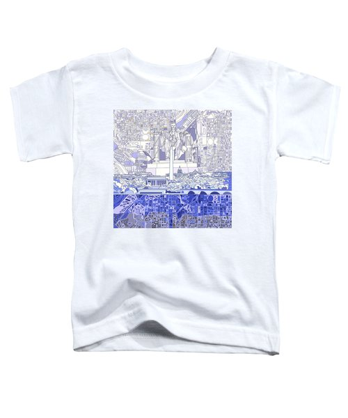 Washington Dc Skyline Abstract 3 Toddler T-Shirt by Bekim Art