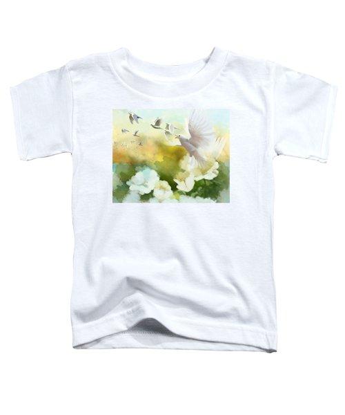 White Doves Toddler T-Shirt by Catf