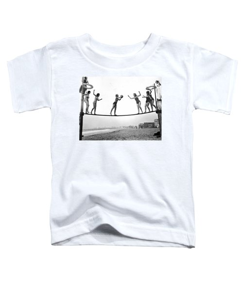 Women Play Beach Basketball Toddler T-Shirt by Underwood Archives